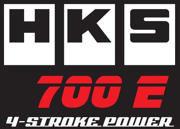 HKS 700E 4 stroke power logo